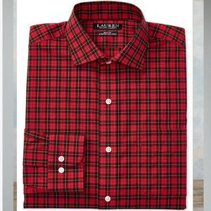 Ralph Lauren Slim Fit Non Iron Plaid Shirt 16 1/2